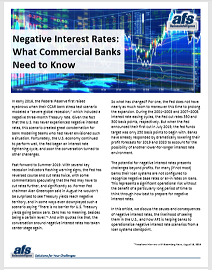 Negative Interest Rates: What Commercial Banks Need to Know