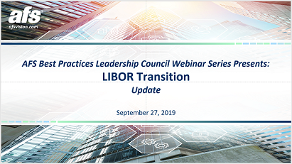 LIBOR Transition Update 9/27/19