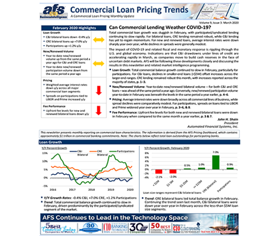 Commercial Loan Pricing Trends Newsletter March 2020